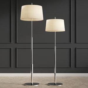 3D floor lamp chrome diana model