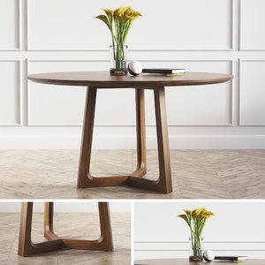 concorde dinning table poliform 3D model