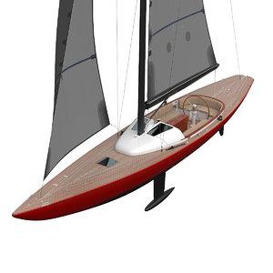 leonardo yacht eagle 44 3D model