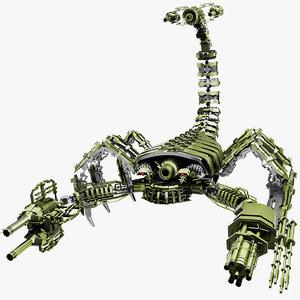 robot scorpion 3D