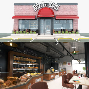 bakehouse amp coffee shop 3D