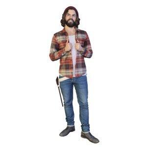 3D woodman standing hipster