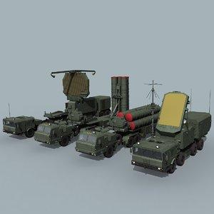 3D russian sa-21 battery