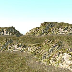 3D climbing rock 01