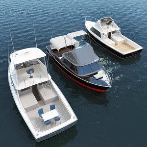 bertram 31 motor boats 3D model