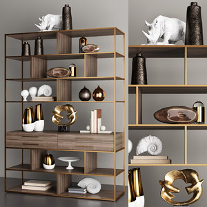 horchow mack geometric etagere 3D model