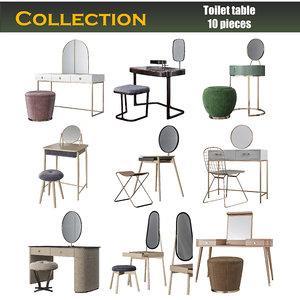 3D toilet table