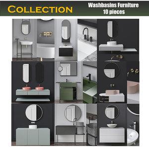 3D furniture washbasin wash