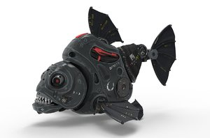 piranha robot fish model
