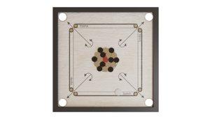 carrom board coins striker 3D model