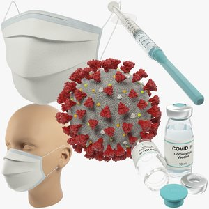 3D medical stuff coronavirus