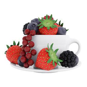 3D model berries cup