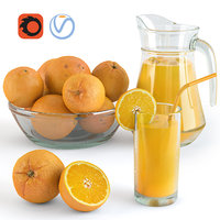 Orange and juice