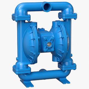 3D pump diaphragm model