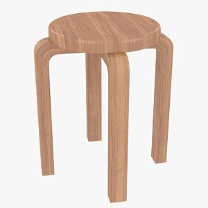 minimalist wooden artek alvar aalto model