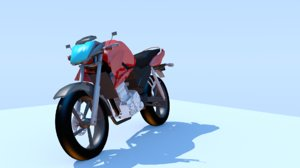 3D model moto motocycle