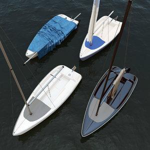 hunter 15 sailboats sail boats 3D