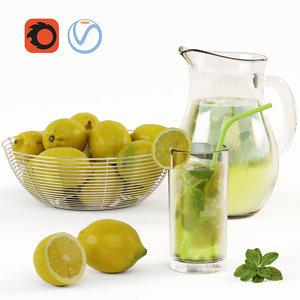 lemons bowls 3D