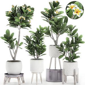 3D decorative interior white pots