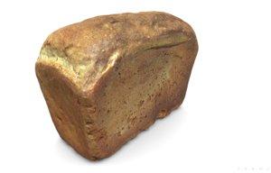 3D loaf bread pbr scan