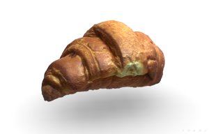 french croissant scan pbr model