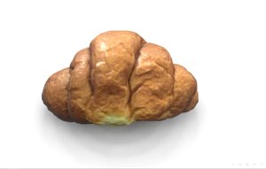 3D french croissant scan pbr