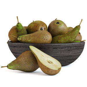 3D fruits pears