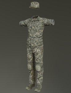 3D united states uniform