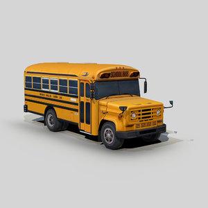 blue bird school bus 3D model