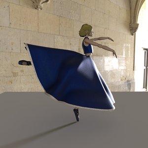 bjd ballerina doll 3D
