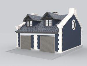3D detached garages cars