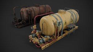 oil storage 3D model