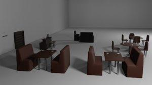 cafe assets 3D model
