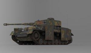 panzerkampfwagen iv aus f 3D model