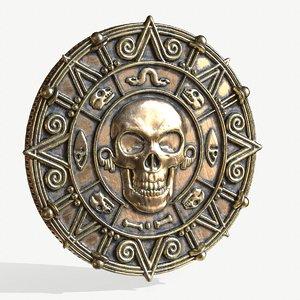 3D pirate coin model