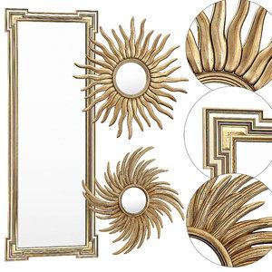 3D eichholtz mirror frame