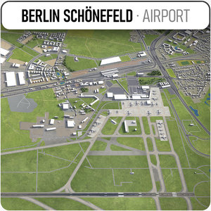 3D city berlin schonefeld airport model