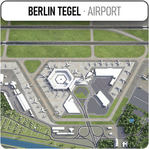 city berlin tegel airport 3D