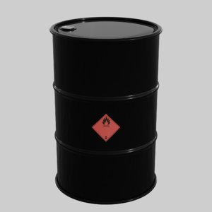 standard oil barrel 3D