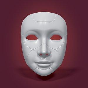 3D robot mask model