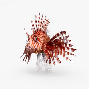 3D model lionfish fish