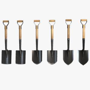 3ds max short miner s shovels