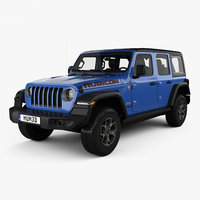 Jeep Wrangler 4-door Unlimited Rubicon with HQ interior 2018