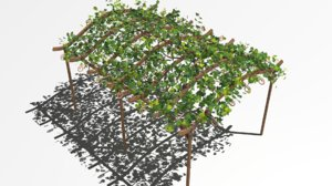 vine arbor 3D model