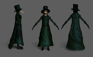 outfit character design plague model
