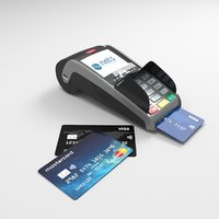 Pos Terminal Ingenico IWL250 and credit cards