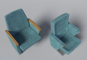 3d model auditorium chair