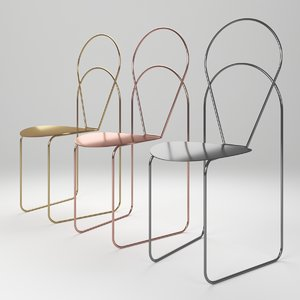 3D petal dining chairs model