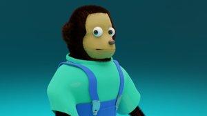 monkey puppet model