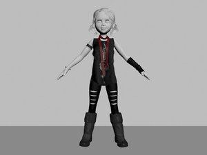goth punk toon 3D model